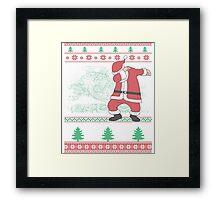 Dabbing Santa Ugly Christmas Holiday Family Snow Vacation Gift Framed Print