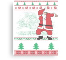 Dabbing Santa Ugly Christmas Holiday Family Snow Vacation Gift Canvas Print