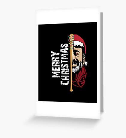 Merry Christmas Walker Zombies Baseball Negann Gift Greeting Card
