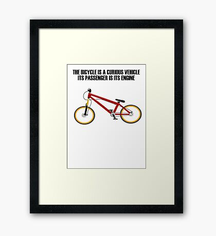 Bicycle Bike Framed Print