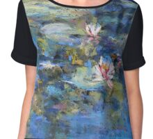 Monet's Pond, Giverny Chiffon Top