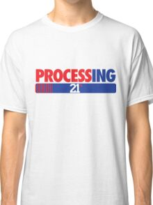 Processing 21% (Small Number Red/Blue) Classic T-Shirt