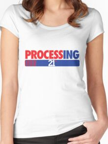 Processing 21% (Small Number Red/Blue) Women's Fitted Scoop T-Shirt