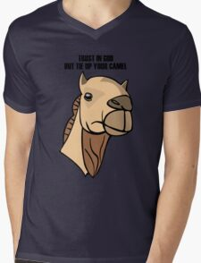 Camel Head Mens V-Neck T-Shirt