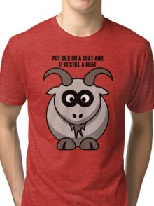 Cartoon Goat Tri-blend T-Shirt