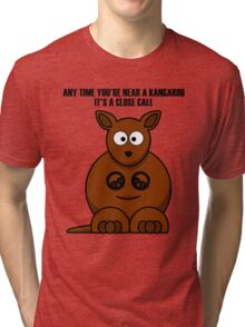 Cartoon Kangaroo Tri-blend T-Shirt
