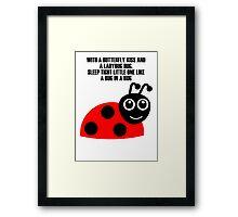 cartoon ladybug Framed Print