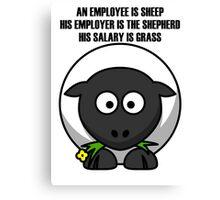 Cartoon Sheep Canvas Print