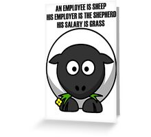 Cartoon Sheep Greeting Card