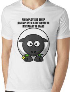 Cartoon Sheep Mens V-Neck T-Shirt