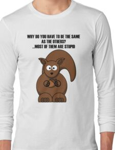 Cartoon Squirrel Long Sleeve T-Shirt
