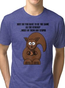 Cartoon Squirrel Tri-blend T-Shirt