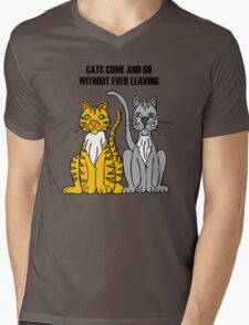 Cartoon Tigers Mens V-Neck T-Shirt