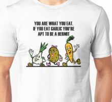 Cartoon Veggies Running Unisex T-Shirt
