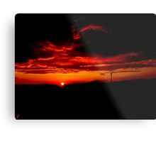 Sunset and stormy clouds Metal Print