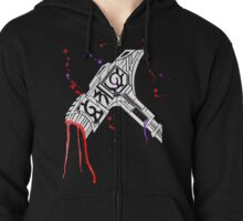 Watercolor Warhammer [White Ink] Zipped Hoodie