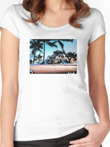 1960 Flat Top Cadillac Women's Fitted Scoop T-Shirt