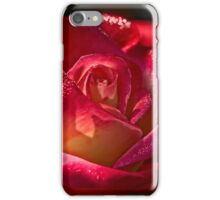 Rose sparkling with morning dew iPhone Case/Skin