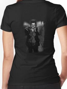 Taxi Photographer Women's Fitted V-Neck T-Shirt