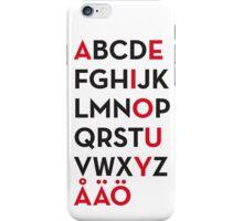 Swedish alphabet iPhone Case/Skin