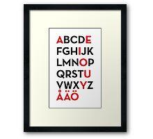 Swedish alphabet Framed Print