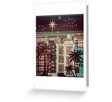 Metro Coastal Skyline Christmas Greeting Card
