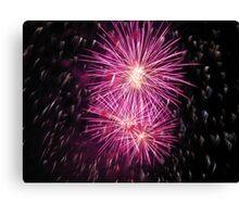 Pink fireworks Canvas Print