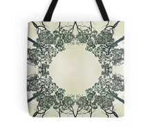 Symmetry in a forest canopy Tote Bag