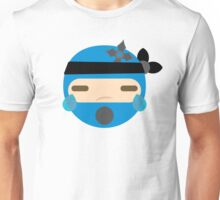 Ninja Emoji Teary Eyes and Sad Look Unisex T-Shirt