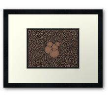 Mazed Overlap Framed Print