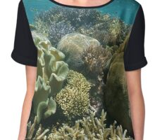 Coral reef underwater south Pacific ocean Chiffon Top