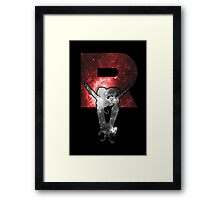 Team Rocket Minimalist Nebula Design Framed Print