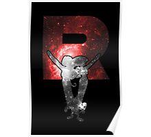 Team Rocket Minimalist Nebula Design Poster