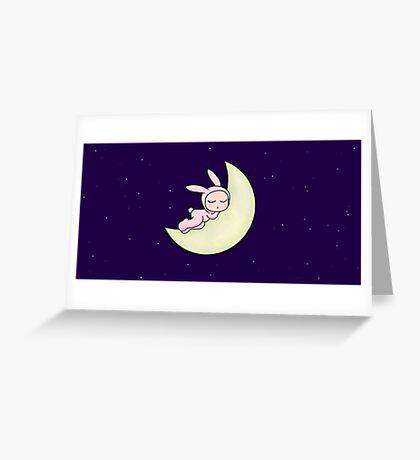 Night Night Little Bunny! Greeting Card