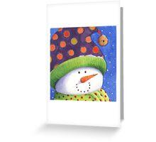 Cute Christmas snowman  Greeting Card