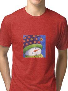 Cute Christmas snowman  Tri-blend T-Shirt