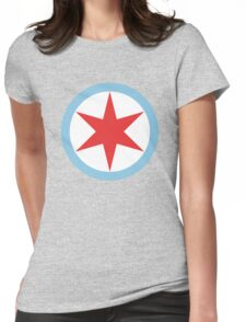 Captain Chicago Womens Fitted T-Shirt