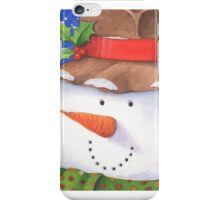 Cute country snowman iPhone Case/Skin