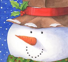 Cute country snowman by lizblackdowding