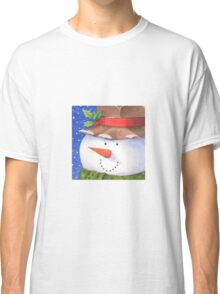 Cute country snowman Classic T-Shirt