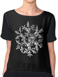 Snowflake vector - Gardener's dream black version Chiffon Top