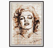 old book drawing marilyn monroe One Piece - Long Sleeve