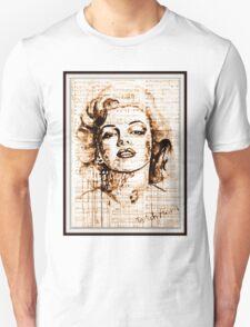 old book drawing marilyn monroe T-Shirt