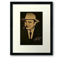 ˜` AL CAPONE˜`TEE SHIRTS,PILLOWS,TOTE BAG,JOURNAL,VARIOUS APPAREL Framed Print