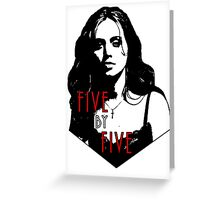 FAITH LEHANE: five by five Greeting Card