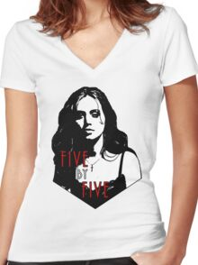 FAITH LEHANE: five by five Women's Fitted V-Neck T-Shirt