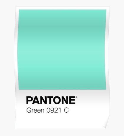 Pantone - Green Poster