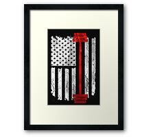American Flag Lifting T-shirt Framed Print