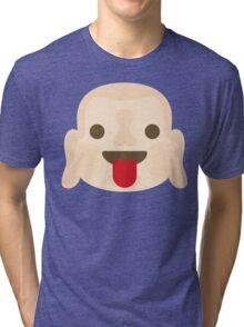 Buddha Emoji Tongue Out Tri-blend T-Shirt