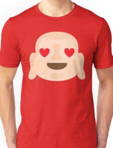 Buddha Emoji Heart and Love Eyes Unisex T-Shirt